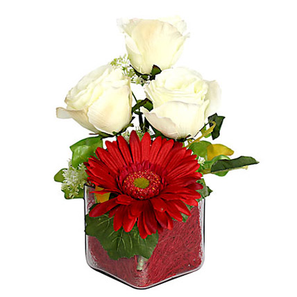 Rose N Gerbera In a Vase