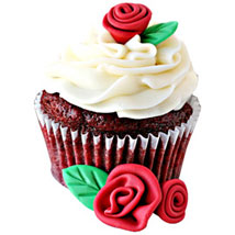 Rosy Cupcakes Delight 24 Eggless