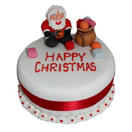 Santa Claus Christmas Cake 1kg Eggless