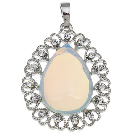 Sea Opal light blue Teardrop Pendants