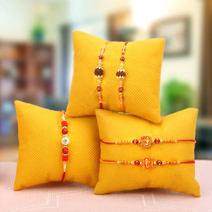 Set of 5 Handcrafted Rakhis