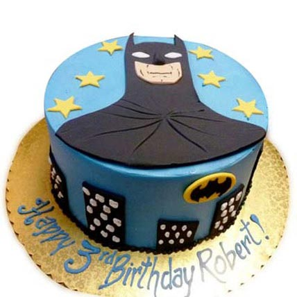 Shiny Batman with stars 3kg Eggless