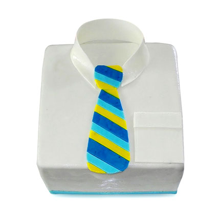 Shirt Tie Designer Cake For Dad 4kg Eggless