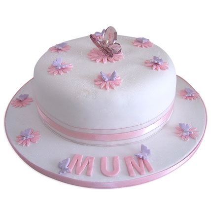 Simple and Sweet Love Mom Cake 3kg Eggless
