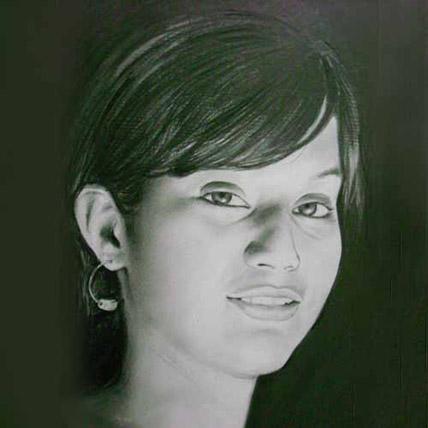 Single Pencil Portrait A3