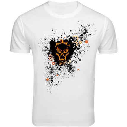 Skull Love T shirt Small