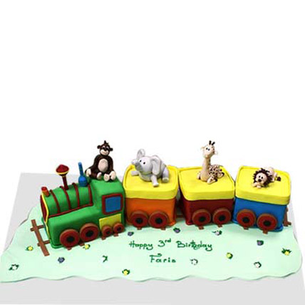 Small train with animals 4kg Eggless