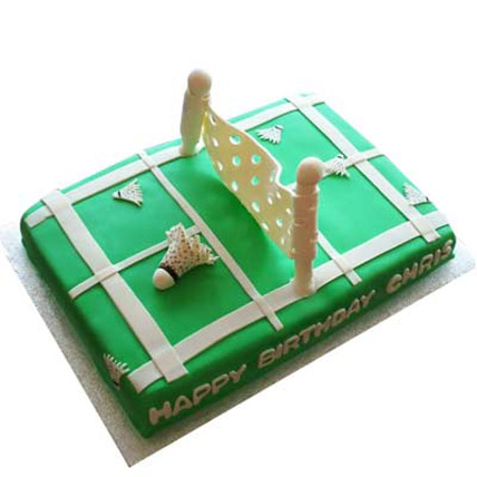 Smashing Badminton Court Cake 2kg Eggless
