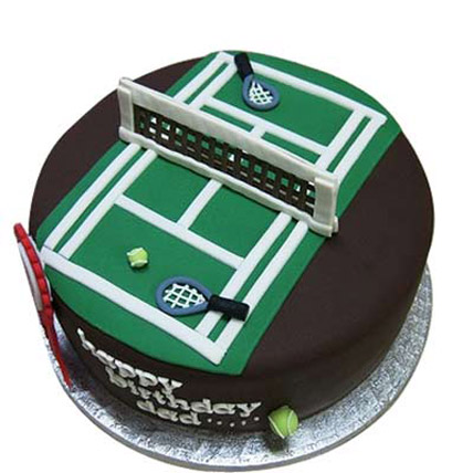 Smashing Tennis Court Cake