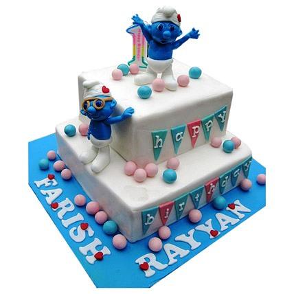 Smurfs Birthday Cake 4kg