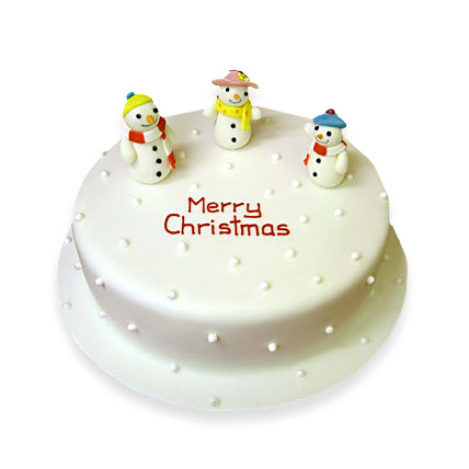 Snowy Christmas Cake 1kg Eggless