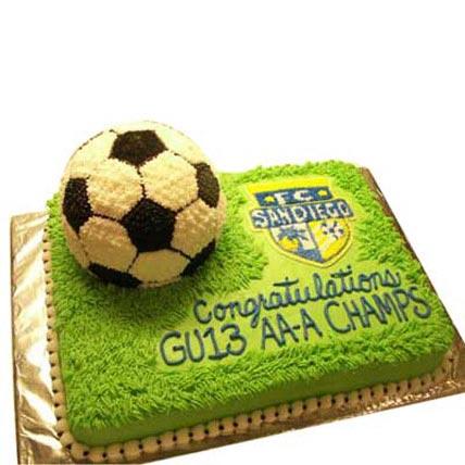 Soccer Cake 4kg Eggless