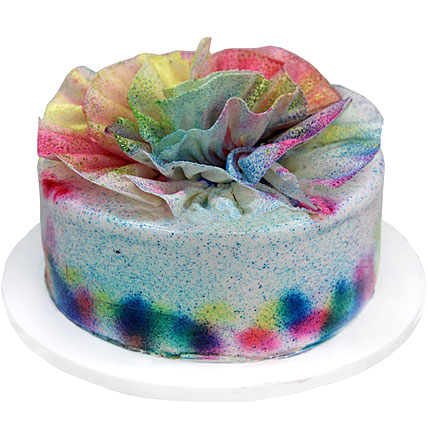 Special Delicious Colourful Holi Cake Half kg Eggless