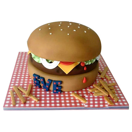 Special Delicious Hamburger Cake 2kg Eggless