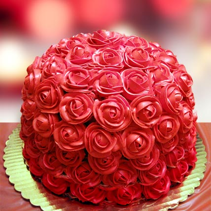 Special Delicious Red Rose Cake 2kg Eggless