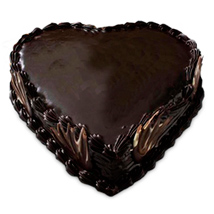 Special Heart Shape Truffle Cake 1kg Eggless