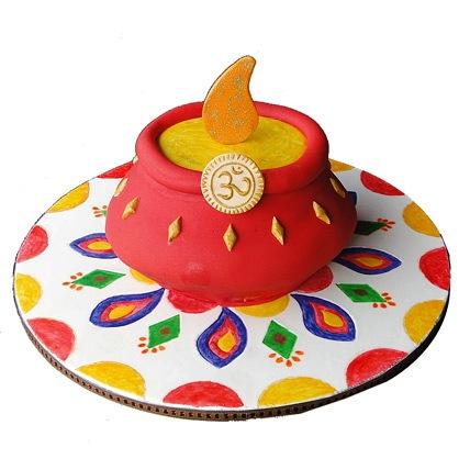 Special Om Kalash Cake 2kg Eggless