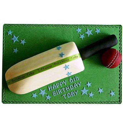 Splendid Cricket Bat Ball Cake 3kg