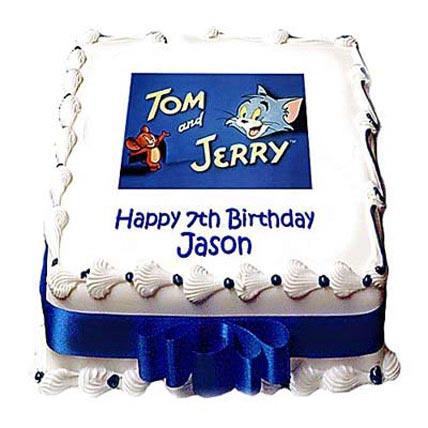 Sporty Tom Jerry Photo Cake 2kg Eggless