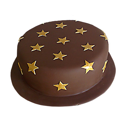 Starry Chocolate Cake 4kg Eggless