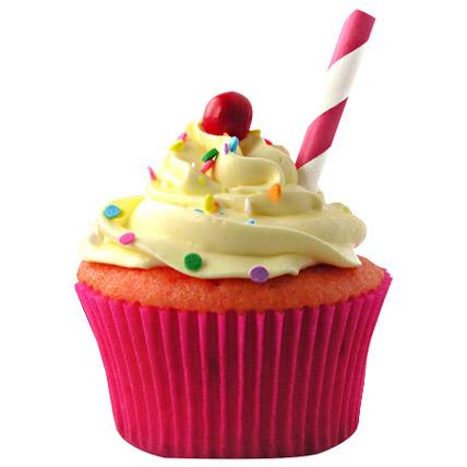 Strawberry Lemonade Cupcakes 12 Eggless