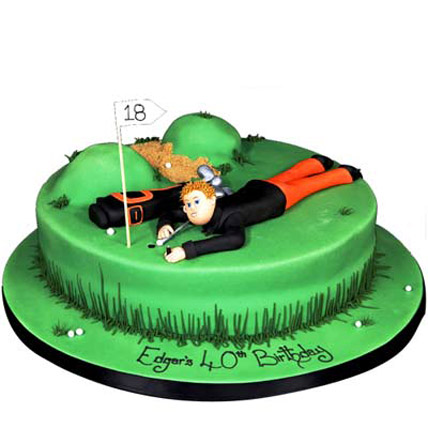 Stunning Golf Course Cake 3kg Eggless