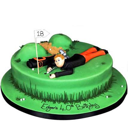 Stunning Golf Course Cake 3kg Eggless