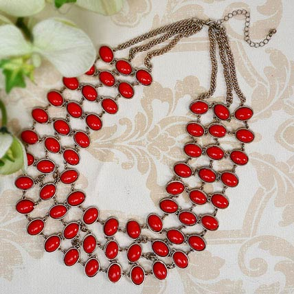 Stunning Red Necklace