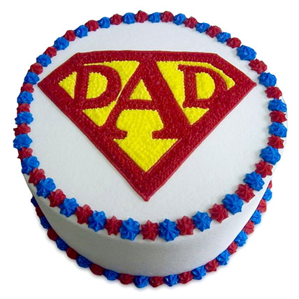 Super Cake For A Super Dad 1kg Eggless