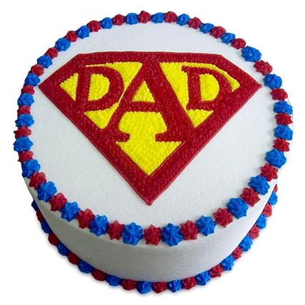 Super Cake For A Super Dad Half kg Eggless