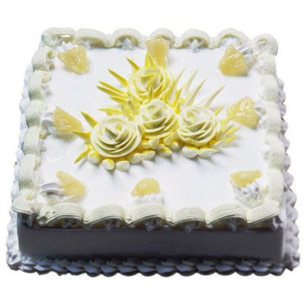 Sweet Pineapple Jinx Cake Half kg Eggless