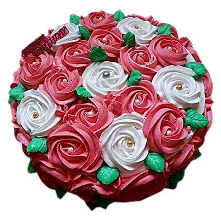 Swirl Roses Cake Half kg