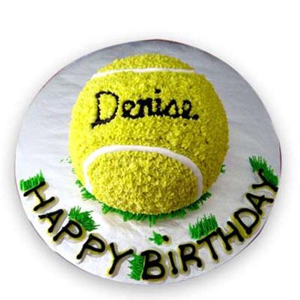 Tennis Ball Cake 4kg Eggless