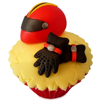 The Biker Dad Cupcakes 24 Eggless