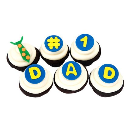 The DAD Cupcakes 12 Eggless