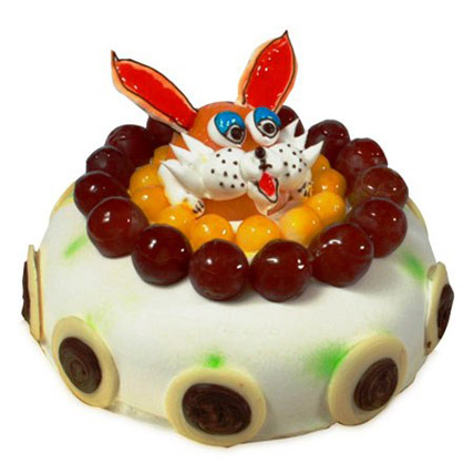 The Delicious Rabbit Cake Half kg Eggless
