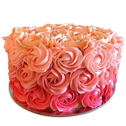 Three Row Rose Cake 4kg Eggless
