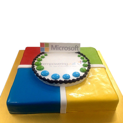 Toothsome Microsoft Treat cake 3kg Eggless