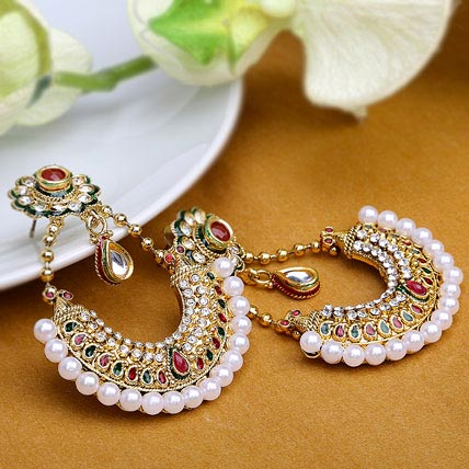 Traditional Kundan Earrings