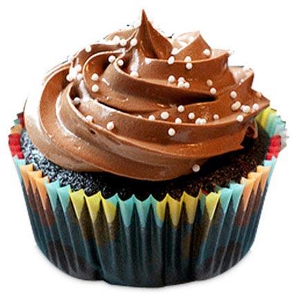 Tripple Chocolate Brownies Cupcakes 12 Eggless