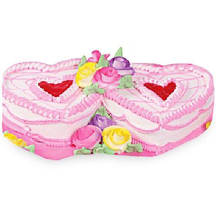 Twin Heart Cake 2kg Eggless