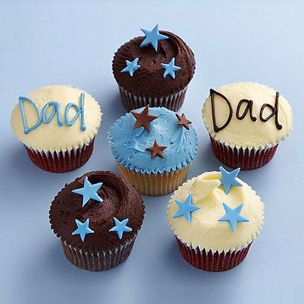 Twinkling Stars Cupcakes for Dad 6 Eggless