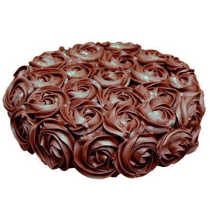 Valentine Chocolate Rose Cake Half kg