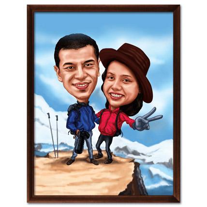 Wall Decor 3D Couple Caricature Himalaya