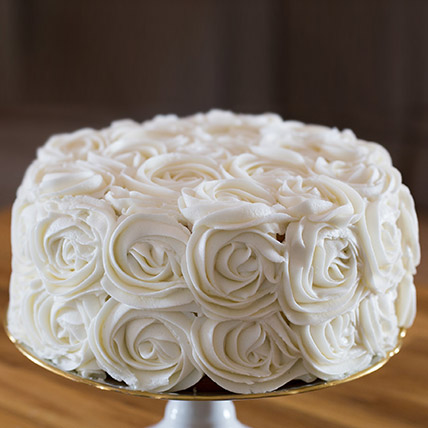 White Rose Cake 2kg Eggless