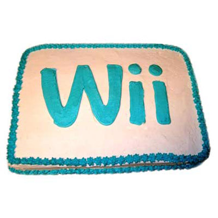 Wii Engaging Logo Cake 2kg Eggless