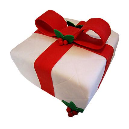 Xmas Gift Cake 3kg Eggless