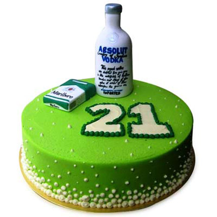 Young Absolute Vodka Cake 4kg Eggless