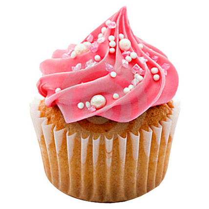 Yummy Pink Cupcakes 24 Eggless