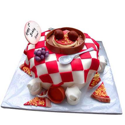 Yummy Tummy Pizza Cake 4kg Eggless